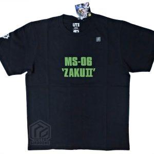 Bandai Gundam Gunpla Zaku II t-shirt nera TuttoGiappone