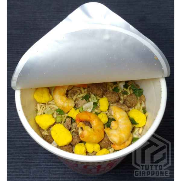 nissin cup noodle aperto tuttogiappone