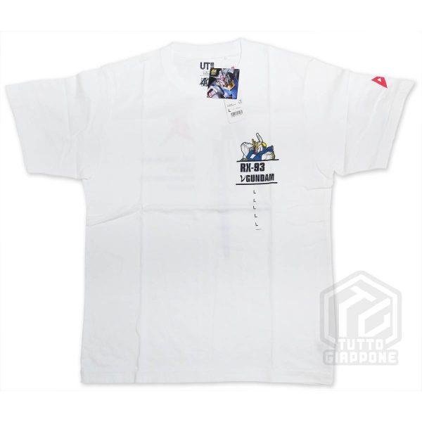 bandai gundam gunpla RX 93 t shirt bianca fronte L tuttogiappone