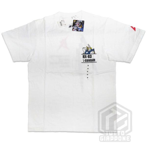 bandai gundam gunpla RX 93 t shirt bianca fronte M tuttogiappone