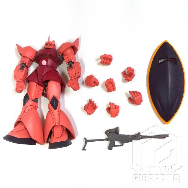 Bandai Gundam MS14S Char s Gelgoog anime version accessori fronte tuttogiappone
