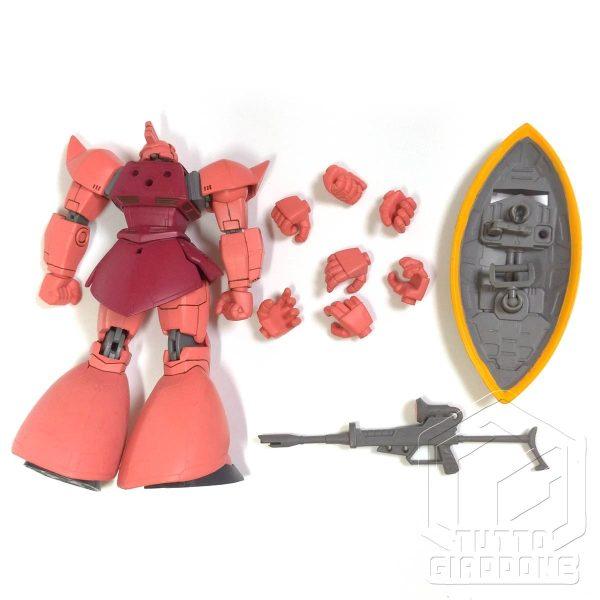 Bandai Gundam MS14S Char s Gelgoog anime version accessori retro tuttogiappone