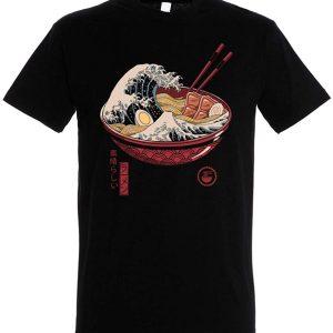 Pampling T Shirt Great Ramen Wave Maglietta Anime Cotone tuttogiappone