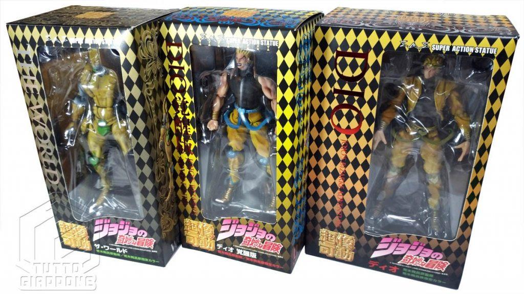 Dio Stand The World Super Action Figure JoJo s Bizarre Adventure tuttogiappone set 3 figure