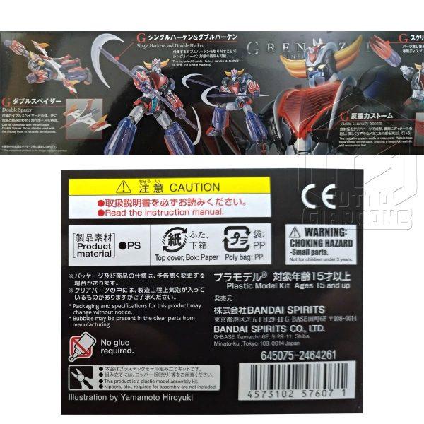 Grendizer Infinitism HG Goldrake Infinity tuttogiappone lato scatola e specifiche