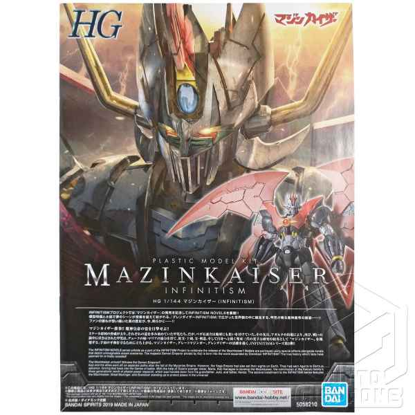 Mazinkaiser Infinitism HG Infinity tuttogiappone manuale fronte