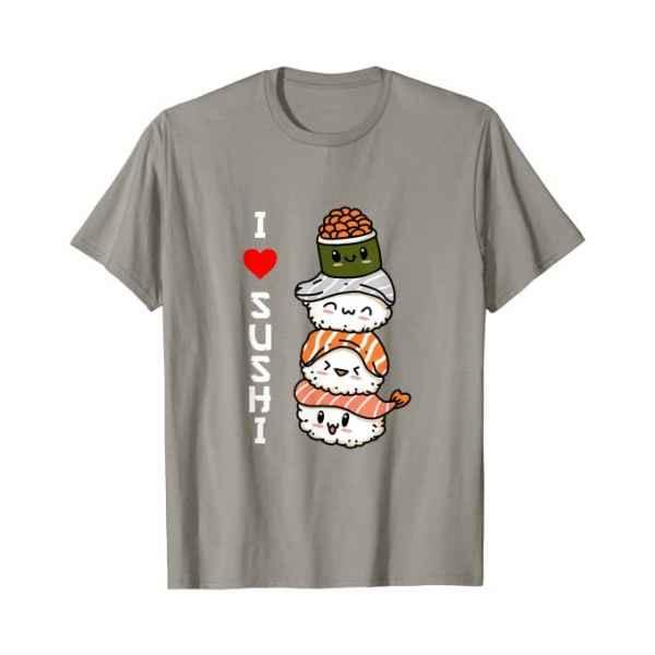 Amo Il Sushi Giappone Cibo Giapponese Maglietta ardesia TuttoGiappone