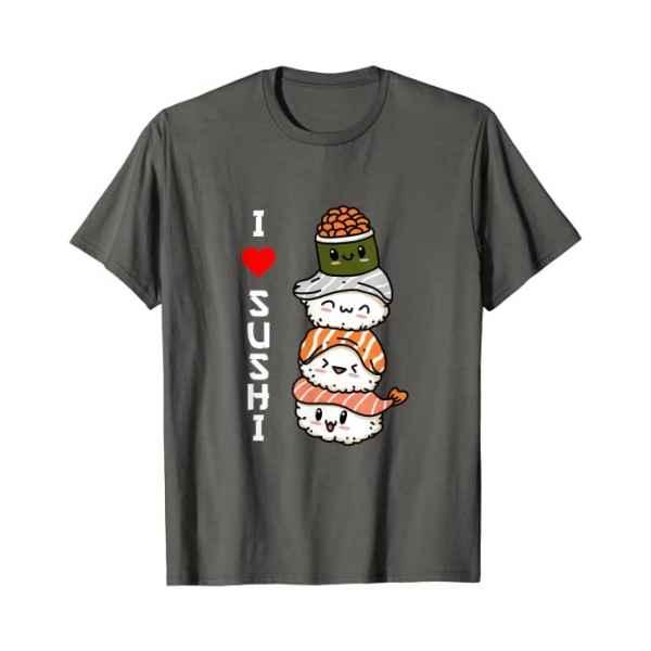 Amo Il Sushi Giappone Cibo Giapponese Maglietta asfalto TuttoGiappone