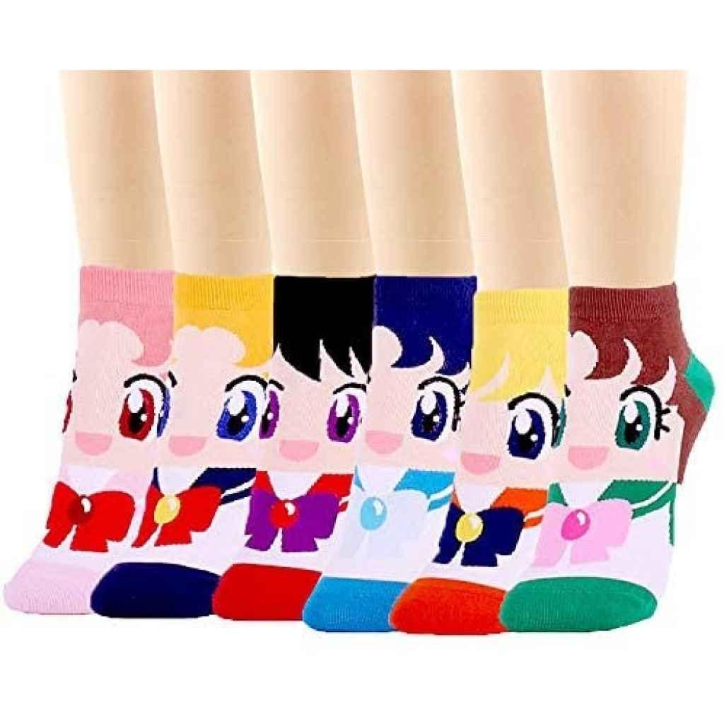 Calzini da donna Sailor Moon cartoni animati giapponesi tuttogiappone