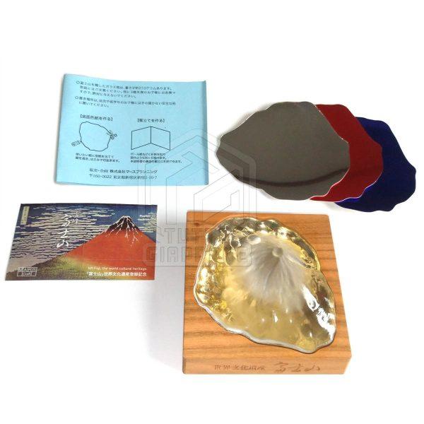 Soprammobile fermacarte in vetro cristallo riproduzione in scala Monte Fuji TuttoGiappone 11