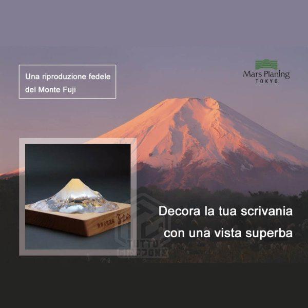 Soprammobile fermacarte in vetro cristallo riproduzione in scala Monte Fuji TuttoGiappone 5 ita