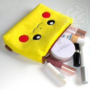 Pokemon Pikachu Beauty Case soffice pouch capiente e carino 2 TuttoGiappone