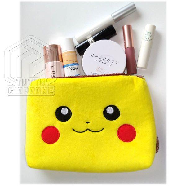 Pokemon Pikachu Beauty Case soffice pouch capiente e carino 6 TuttoGiappone