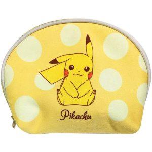 Pokemon morbido beauty case a conchiglia bicolore con Pikachu e Eevee 01 TuttoGiappone