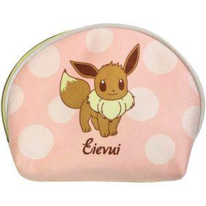 Pokemon morbido beauty case a conchiglia bicolore con Pikachu e Eevee 02 TuttoGiappone