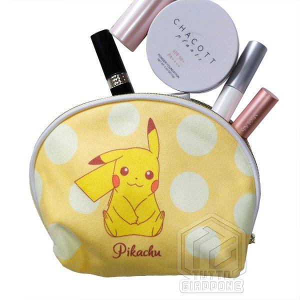 Pokemon morbido beauty case a conchiglia bicolore con Pikachu e Eevee 06 TuttoGiappone