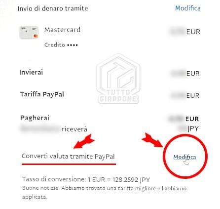 Come risparmiare costi di PayPal quando si compra in Giappone 2 TuttoGiappone