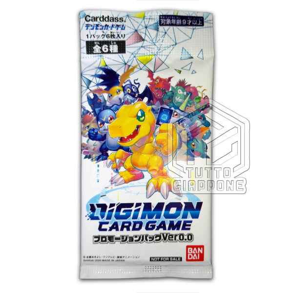 Digimon Card Game Promotion Promo Pack ver0 fronte TuttoGiappone