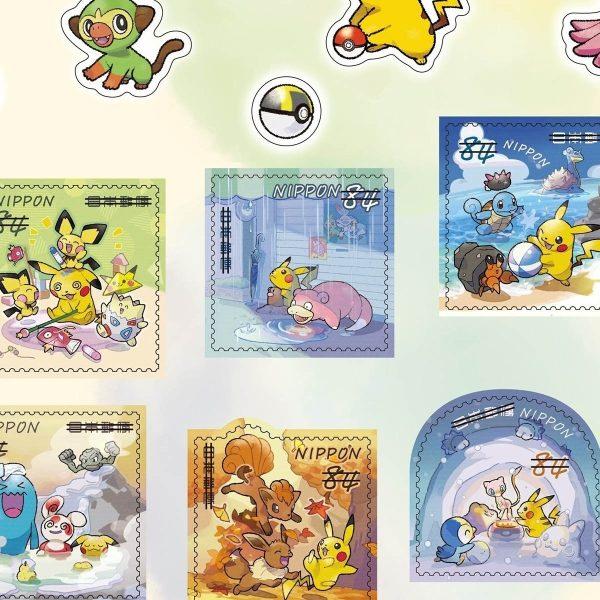 francobolli pokemon bianco 3 TuttoGiappone