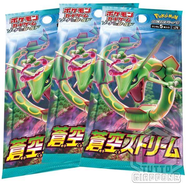 Pokemon Card bustine Blue Sky Stream Rayquaza V Union set TuttoGiappone