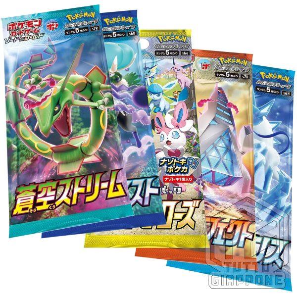 Pokemon collezione allenatore Dandel Fabia Azzurra Laburno 5 bustine TuttoGiappone