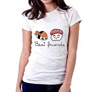 Tshirt Divertente Donna  -  Best Friends Sushi - Idea Regalo per la Tua Amica - Tutte Le Taglie by tshirteria