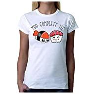 Tshirt Divertente Donna - You Complete Me - Sushi - Idea Regalo