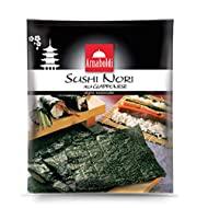 Arnaboldi Alga Nori per Sushi Giapponese, 48 Fogli di Alghe Nori Essiccate da 126g, 6 Confezioni da 8 Fogli