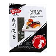 Biyori - Alghe Nori per Sushi - 2 confezioni da 25 g e 50 g