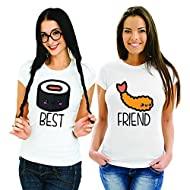 Coppia di T Shirt Magliette You And Me Best Friend Sushi 2